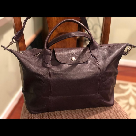 Longchamp Le Pliage Cuir Medium Tote